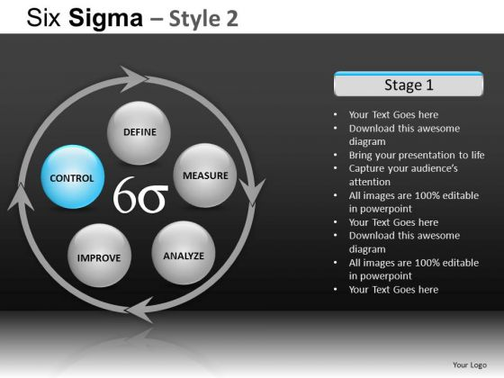 PowerPoint Themes Business Growth Six Sigma Ppt Templates