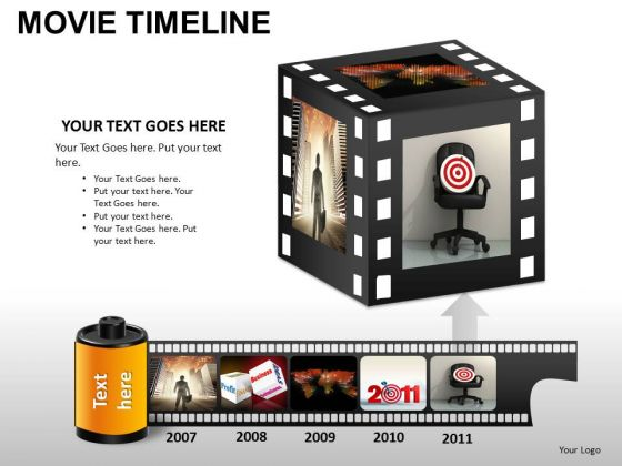 PowerPoint Themes Business Movie Timeline Ppt Slides