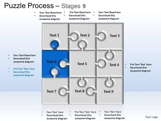 PowerPoint Themes Business Puzzle Process Ppt Designs