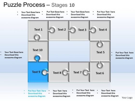 PowerPoint Themes Business Puzzle Process Ppt Layout