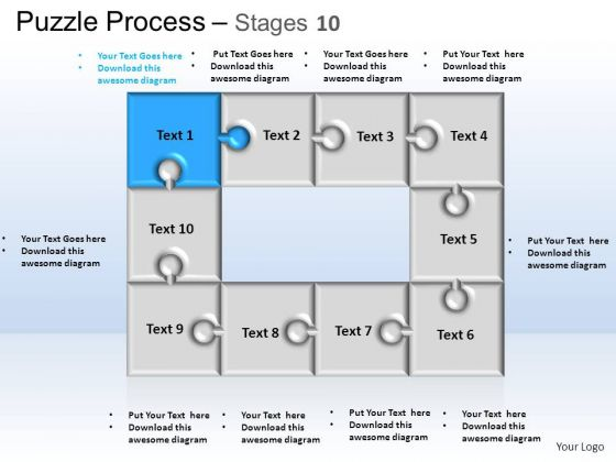 PowerPoint Themes Business Puzzle Process Ppt Presentation Designs