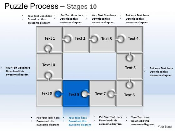 PowerPoint Themes Business Puzzle Process Ppt Slide