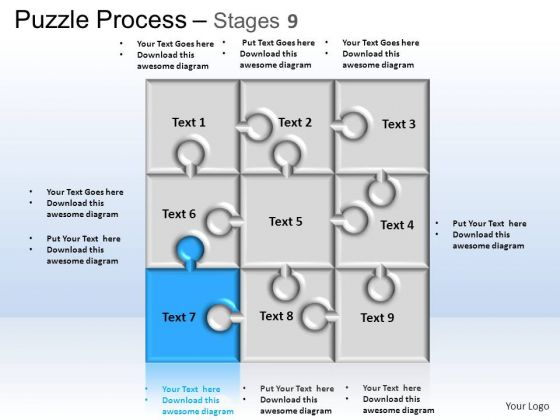 PowerPoint Themes Business Puzzle Process Ppt Slides