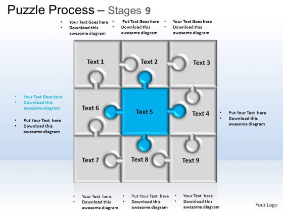 PowerPoint Themes Business Puzzle Process Ppt Templates