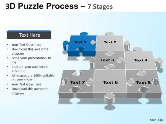 PowerPoint Themes Business Puzzle Process Ppt Theme