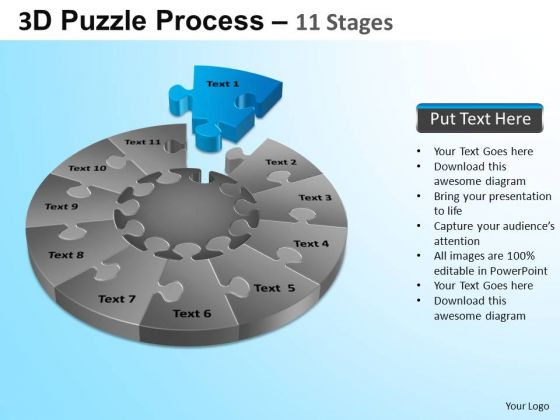 PowerPoint Themes Business Puzzle Segment Pie Chart Ppt Backgrounds