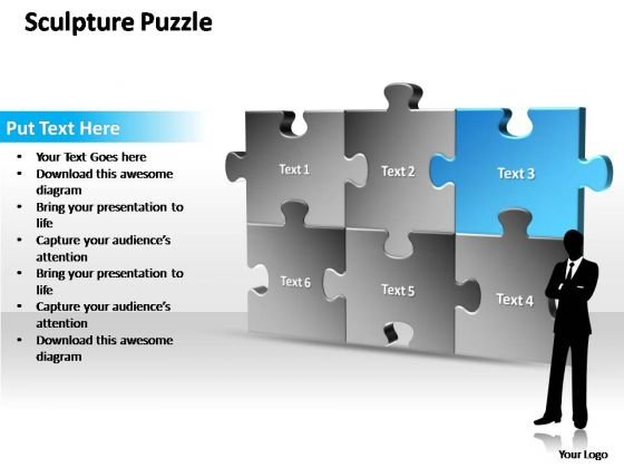 PowerPoint Themes Business Sculpture Puzzle Ppt Templates