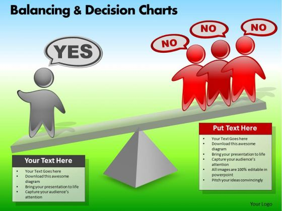 PowerPoint Themes Business Strategy Balancing Decision Charts Ppt Designs
