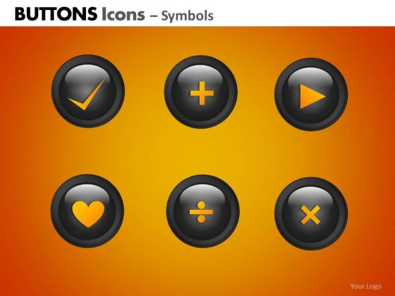PowerPoint Themes Business Strategy Buttons Icons Ppt Process
