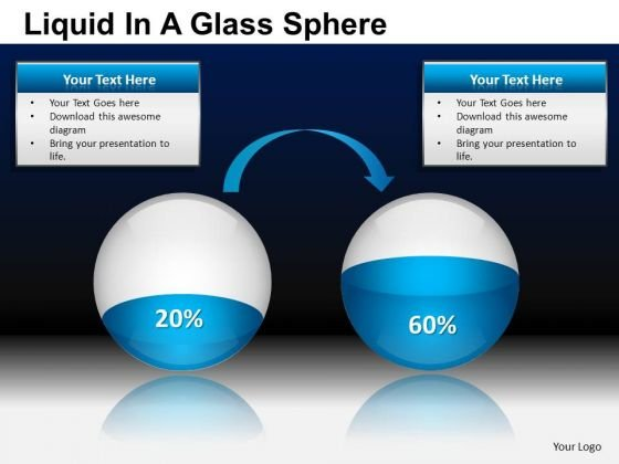 PowerPoint Themes Business Strategy Liquid In A Balls Sphere Ppt Templates