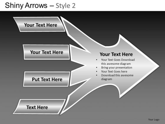 PowerPoint Themes Business Strategy Shiny Arrows 2 Ppt Layouts