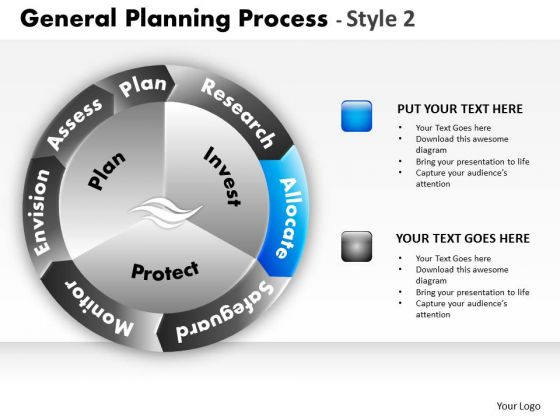 PowerPoint Themes Business Success General Planning Process Ppt Templates