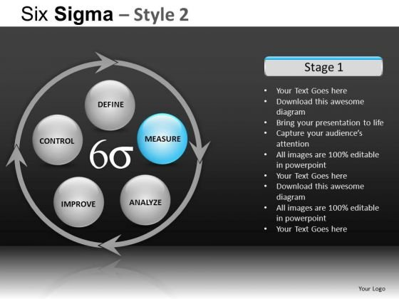 PowerPoint Themes Business Success Six Sigma Ppt Slide Designs