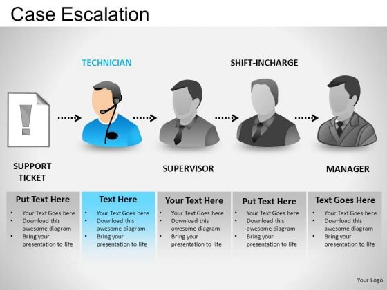 PowerPoint Themes Business Teamwork Case Escalation Ppt Templates