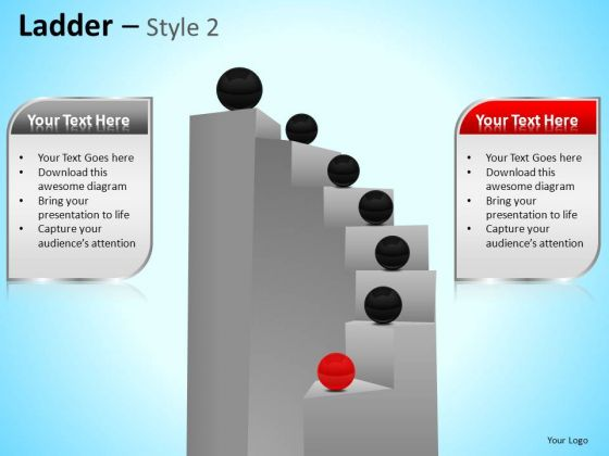 PowerPoint Themes Business Teamwork Ladder Ppt Templates