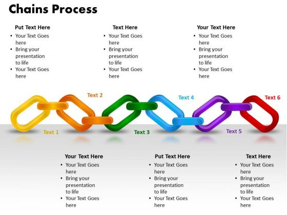 PowerPoint Themes Chains Process Download Ppt Template