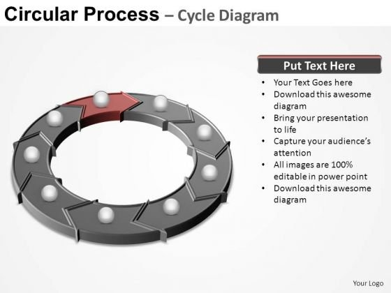 PowerPoint Themes Chart Circular Process Ppt Design