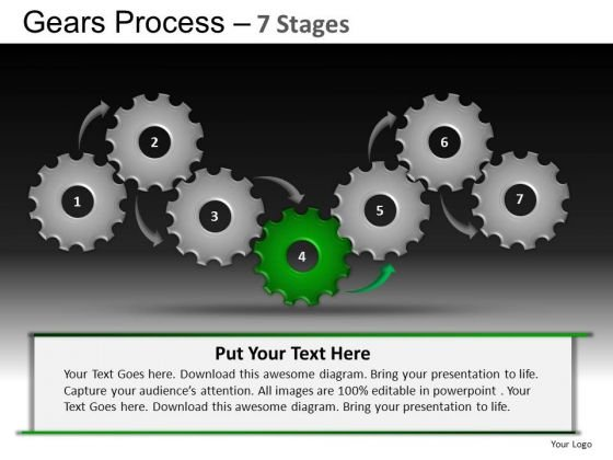 PowerPoint Themes Chart Gears Process Ppt Designs