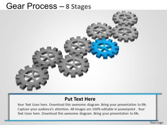 PowerPoint Themes Chart Gears Process Ppt Slide Designs