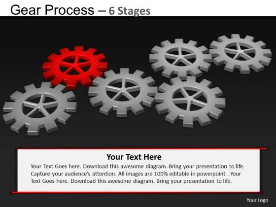 PowerPoint Themes Chart Gears Process Ppt Template