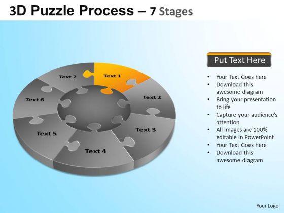 PowerPoint Themes Chart Jigsaw Pie Chart Ppt Template
