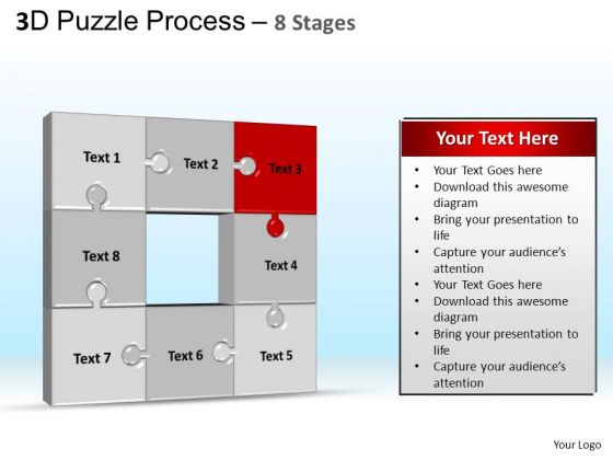 PowerPoint Themes Chart Puzzle Process Ppt Slide Designs