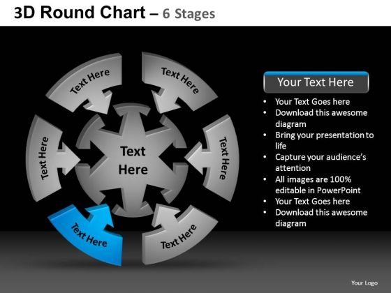 PowerPoint Themes Chart Round Chart Ppt Design