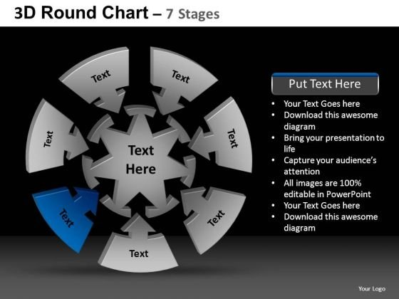 PowerPoint Themes Chart Round Chart Ppt Design Slides