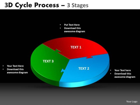 PowerPoint Themes Circle Chart Cycle Process Ppt Designs