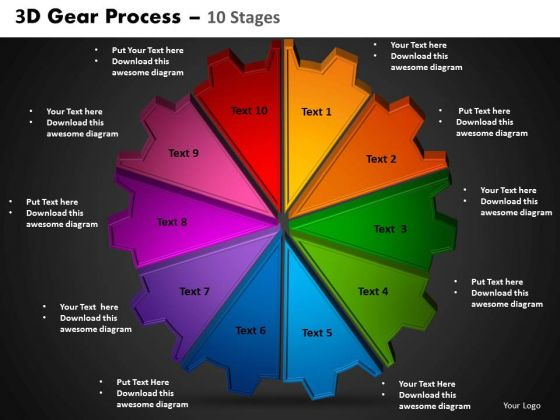 PowerPoint Themes Circle Process Gear Process Ppt Slides