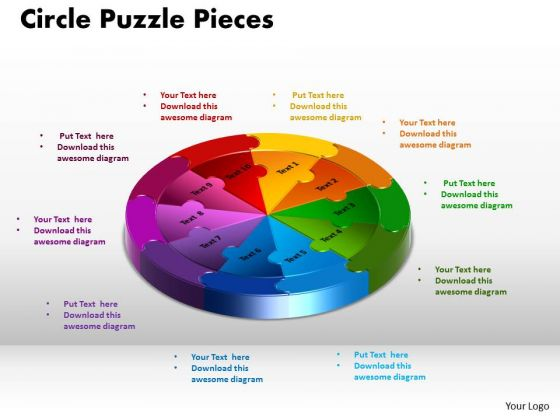 PowerPoint Themes Circle Puzzle Pieces Editable Ppt Design