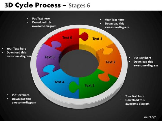 PowerPoint Themes Circular Chart Cycle Process Ppt Process