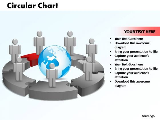 PowerPoint Themes Circular Chart With Globe Ppt Backgrounds