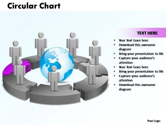 PowerPoint Themes Circular Chart With Globe Ppt Design Slides