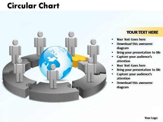 PowerPoint Themes Circular Chart With Globe Ppt Layout