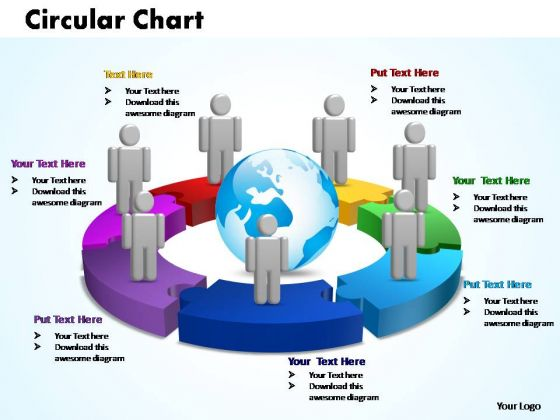 PowerPoint Themes Circular Chart With Globe Ppt Layouts