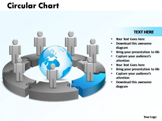 PowerPoint Themes Circular Chart With Globe Ppt Presentation