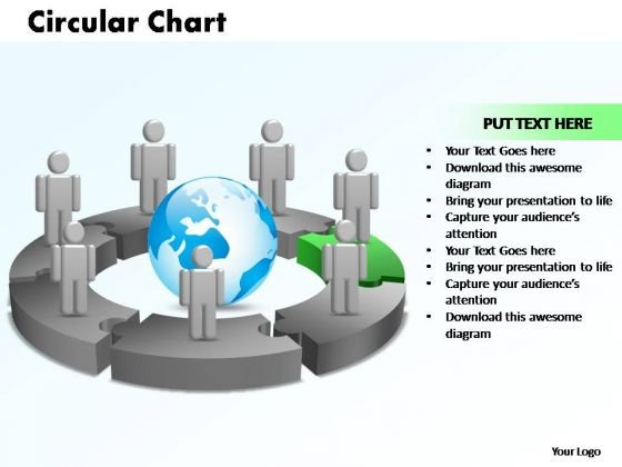 PowerPoint Themes Circular Chart With Globe Ppt Slide Designs