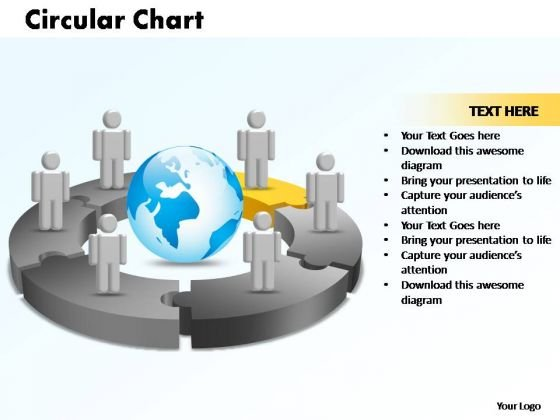 PowerPoint Themes Circular Chart With Globe Ppt Template