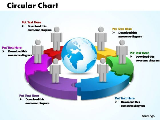 PowerPoint Themes Circular Chart With Globe Ppt Templates
