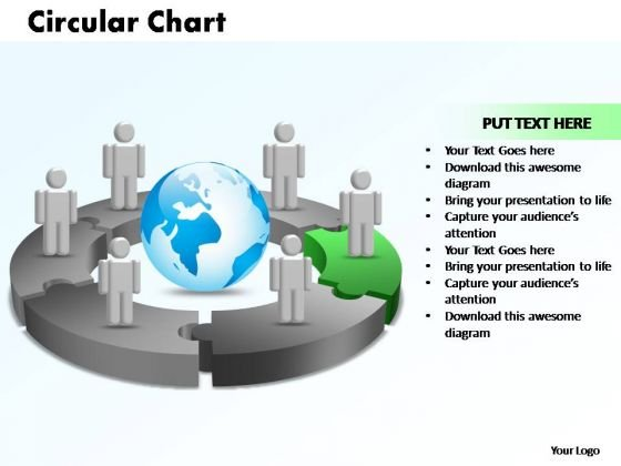 PowerPoint Themes Circular Chart With Globe Ppt Theme
