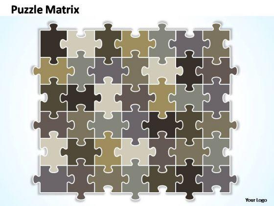 PowerPoint Themes Company Puzzle Matrix Ppt Slides