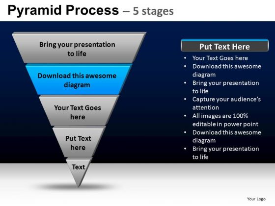 PowerPoint Themes Company Pyramid Process Ppt Presentation