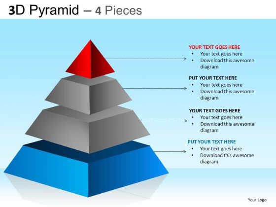PowerPoint Themes Corporate Growth Pyramid Ppt Design Slides