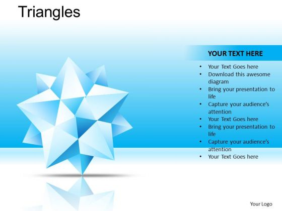PowerPoint Themes Corporate Leadership Triangles Ppt Presentation Designs
