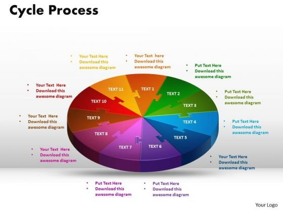 PowerPoint Themes Cycle Process Leadership Ppt Slides