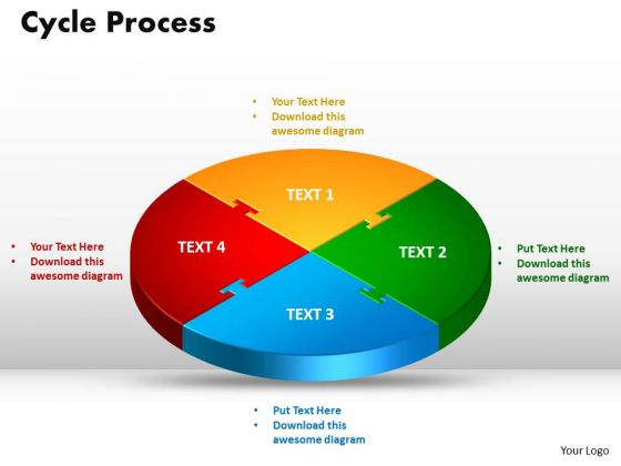 PowerPoint Themes Cycle Process Strategy Ppt Presentation