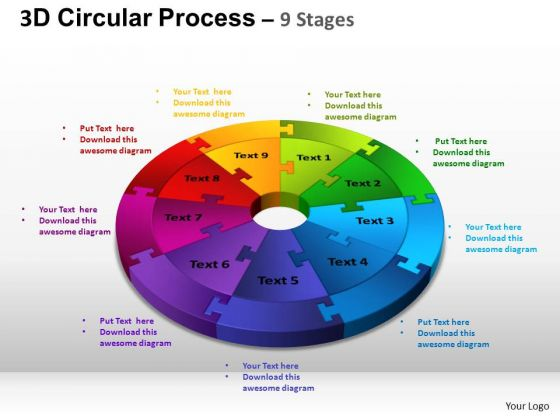 PowerPoint Themes Diagram Circular Process Cycle Ppt Templates