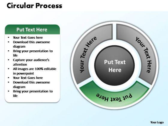 PowerPoint Themes Diagram Circular Process Ppt Theme