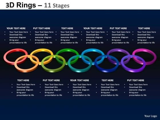 PowerPoint Themes Diagram Rings Ppt Layout